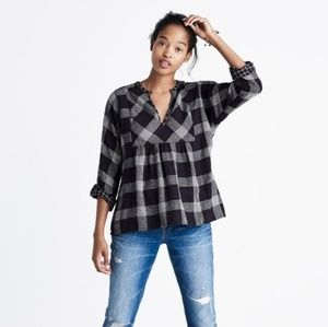 Madewell Hayden Pullover Plaid Top S